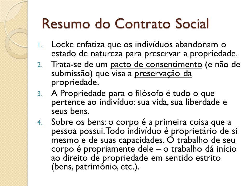 Resumo do Contrato Social