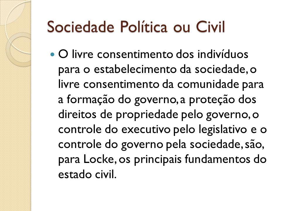 Sociedade Política ou Civil