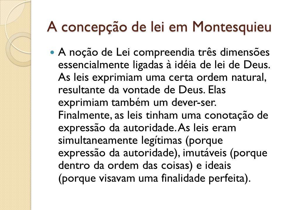 A concepção de lei em Montesquieu