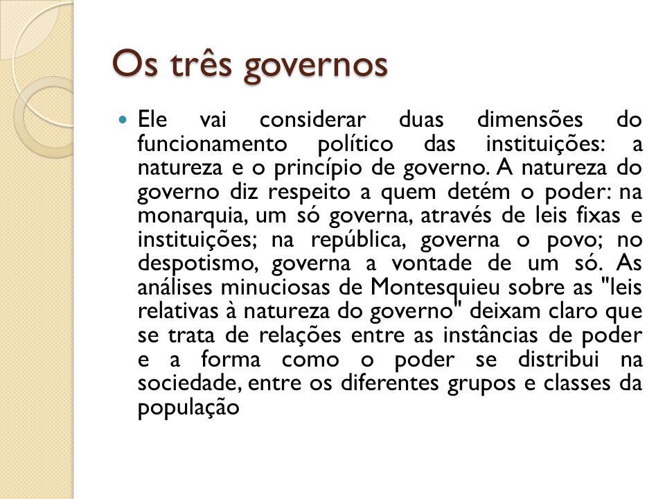 Os três governos
