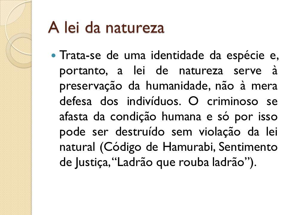 A lei da natureza