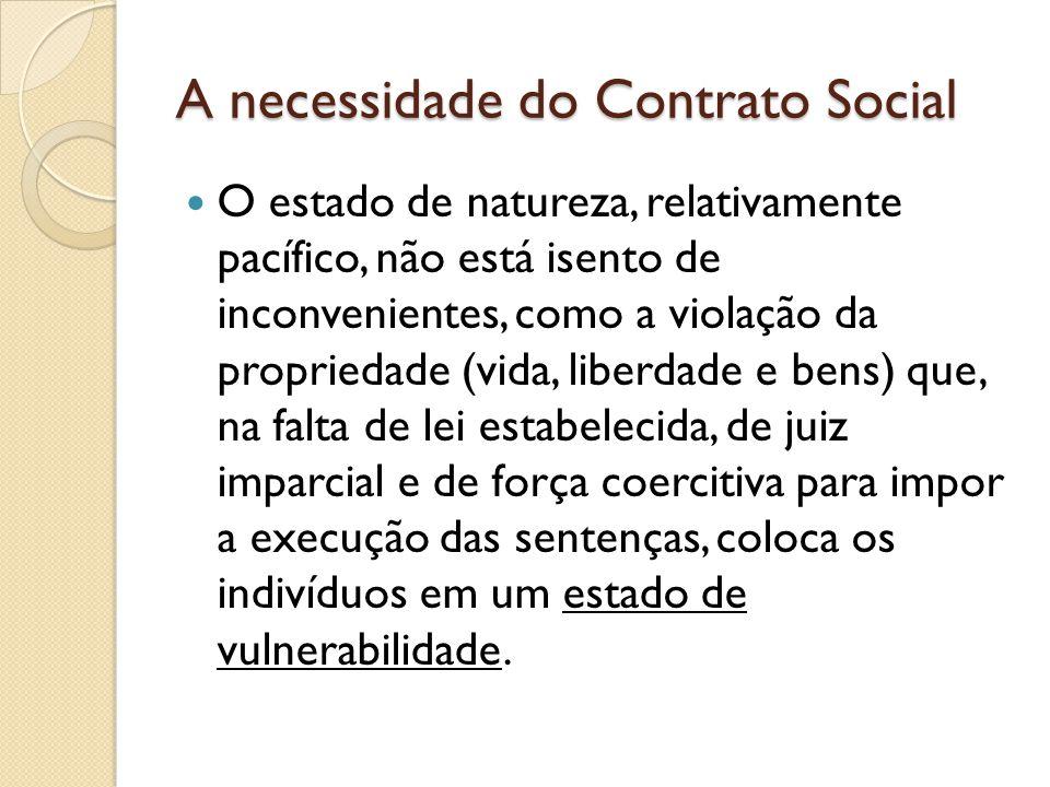 A necessidade do Contrato Social