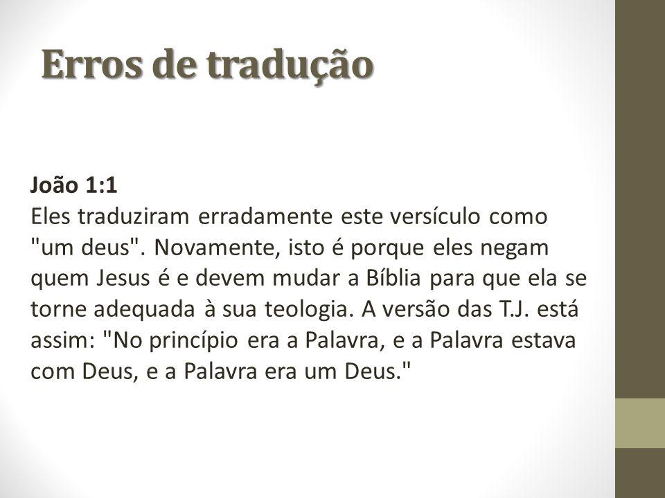 Erros de tradução João 1:1