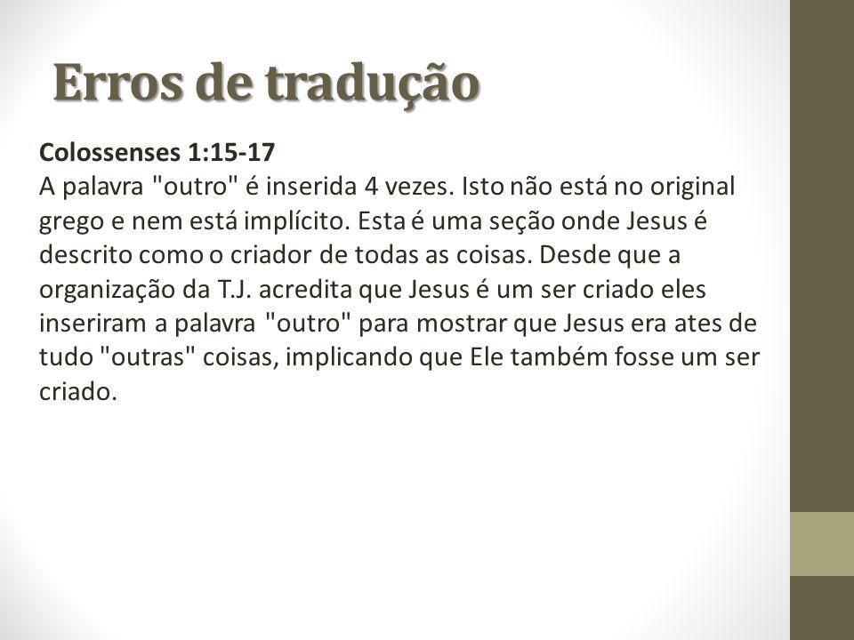 Erros de tradução Colossenses 1:15-17