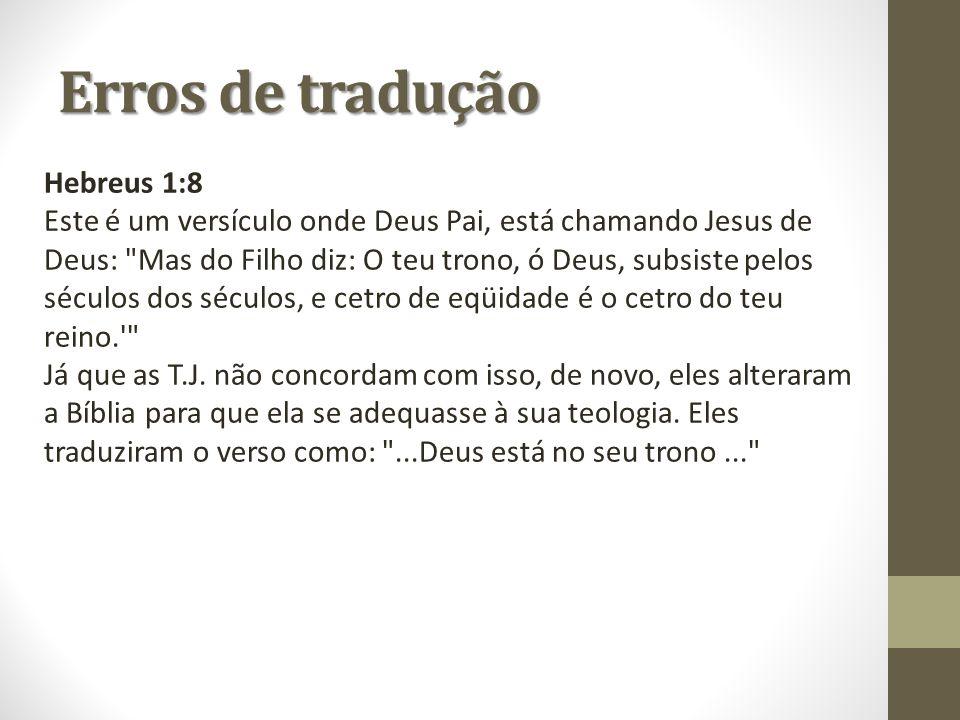 Erros de tradução Hebreus 1:8