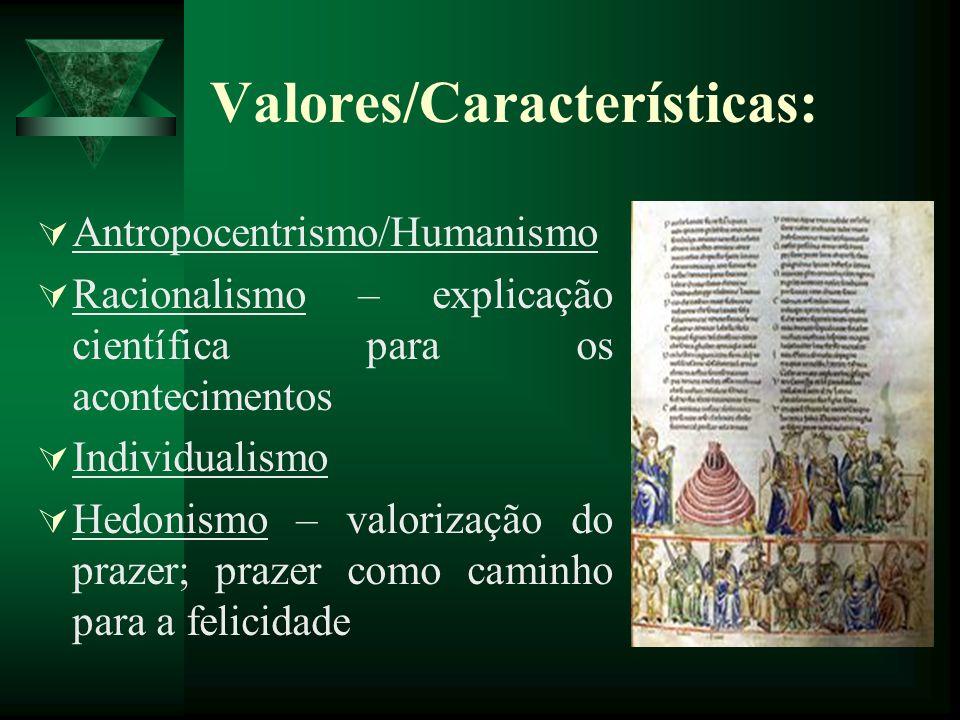 Valores/Características: