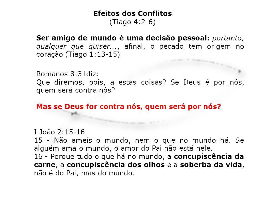 Efeitos dos Conflitos (Tiago 4:2-6)