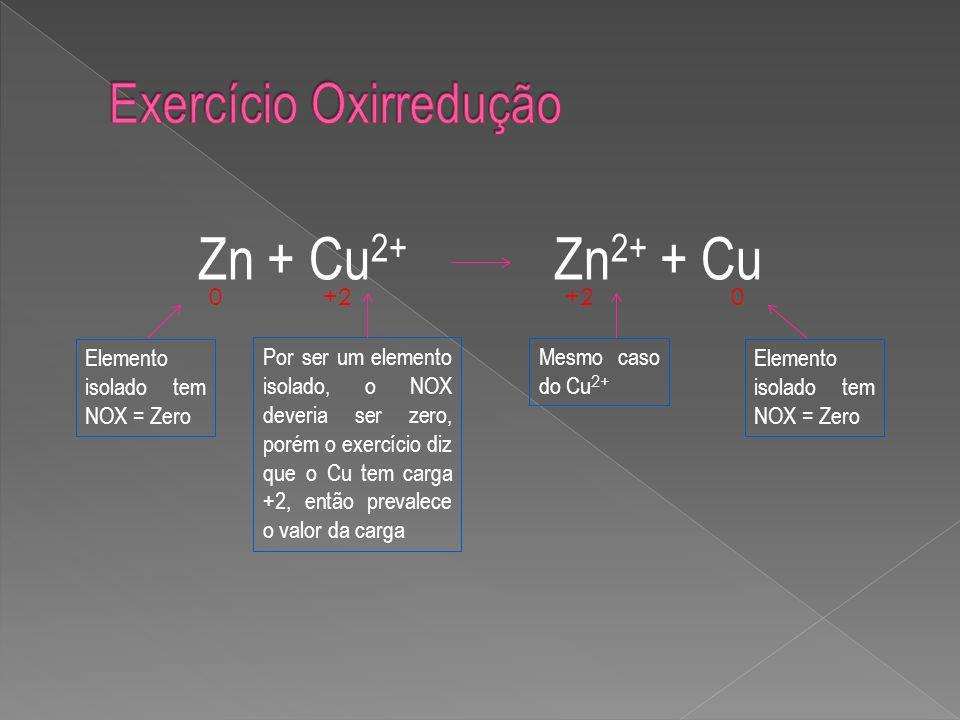 Exercício Oxirredução