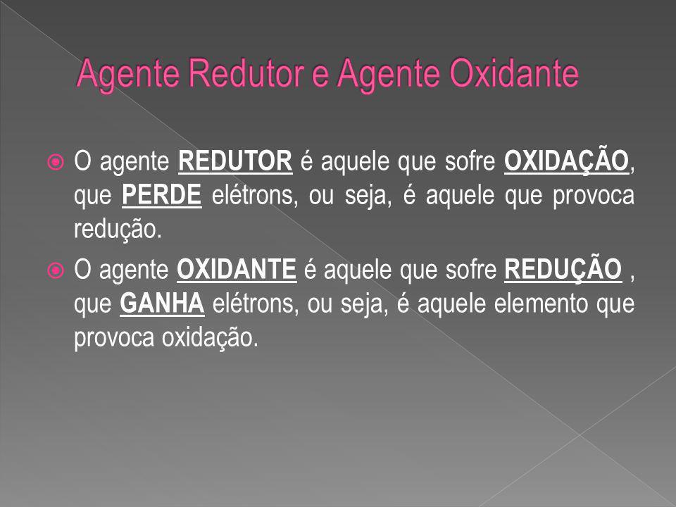 Agente Redutor e Agente Oxidante
