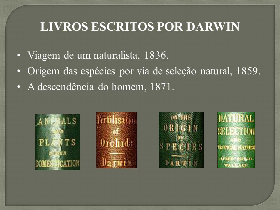 LIVROS ESCRITOS POR DARWIN