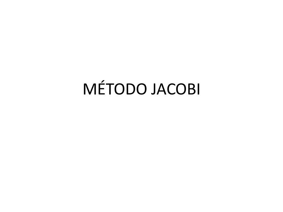MÉTODO JACOBI