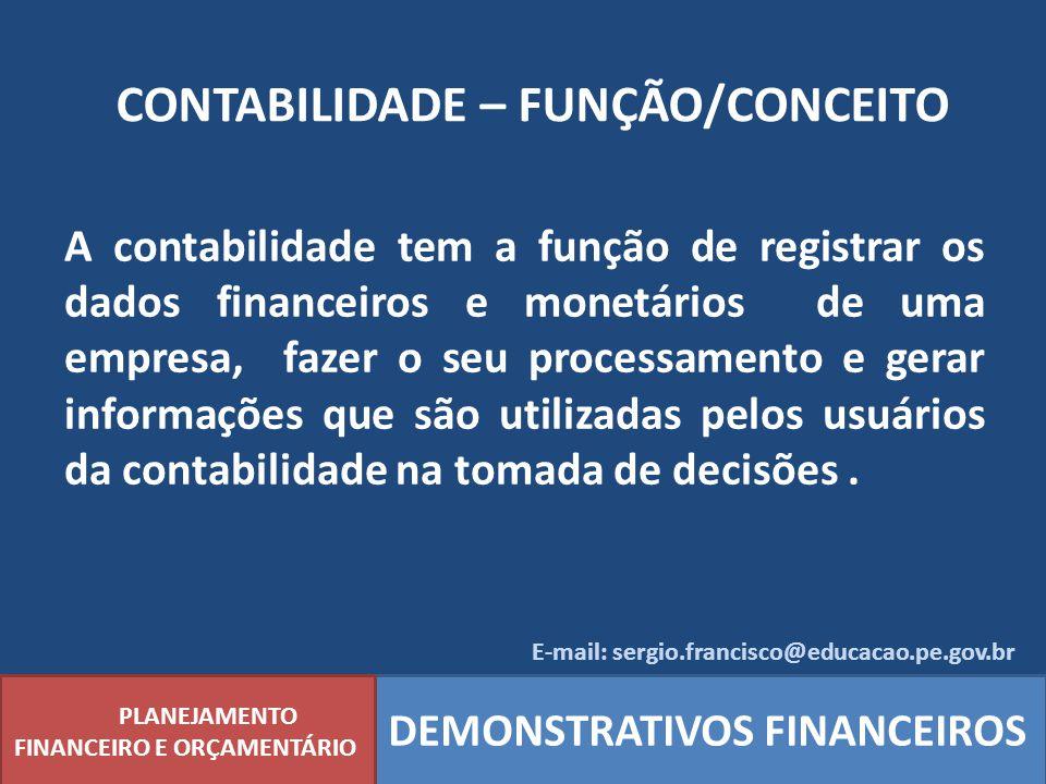 CONTABILIDADE – FUNÇÃO/CONCEITO
