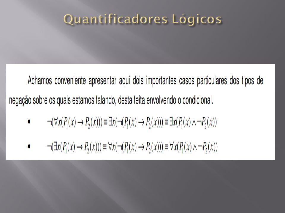 Quantificadores Lógicos