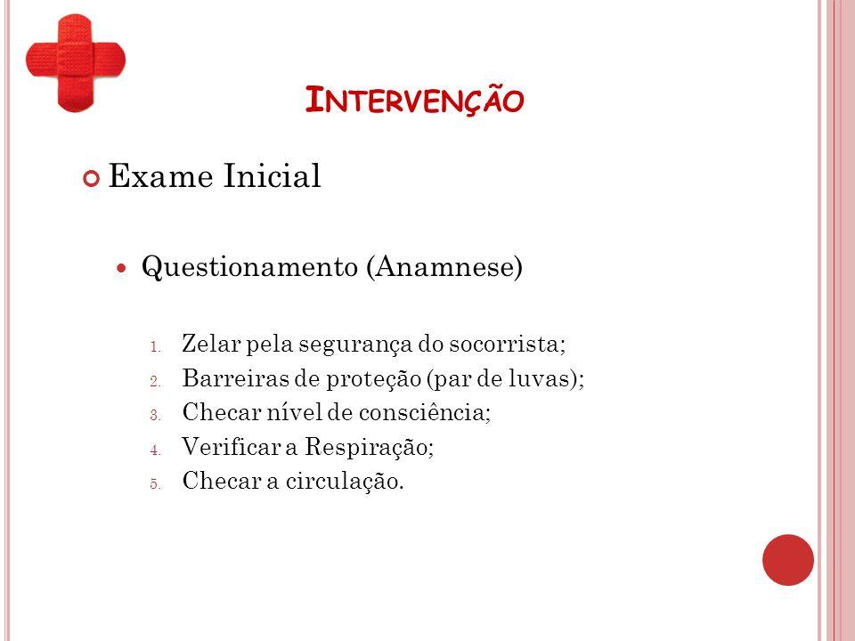 Intervenção Exame Inicial Questionamento (Anamnese)