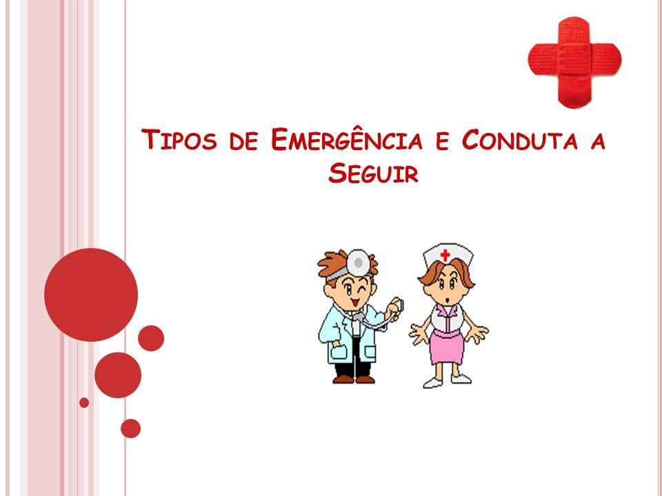 Tipos de Emergência e Conduta a Seguir