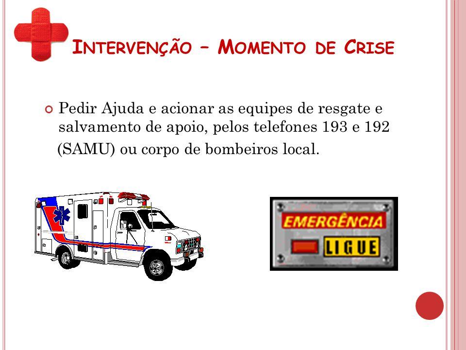 Intervenção – Momento de Crise