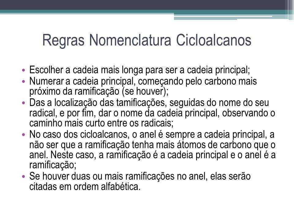 Regras Nomenclatura Cicloalcanos