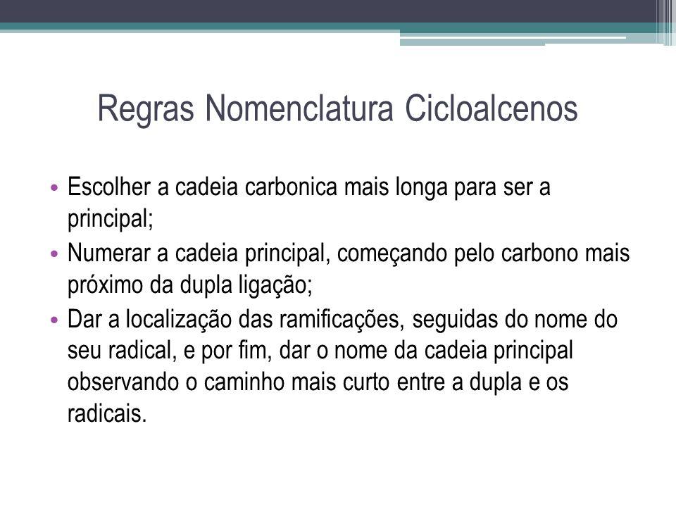 Regras Nomenclatura Cicloalcenos