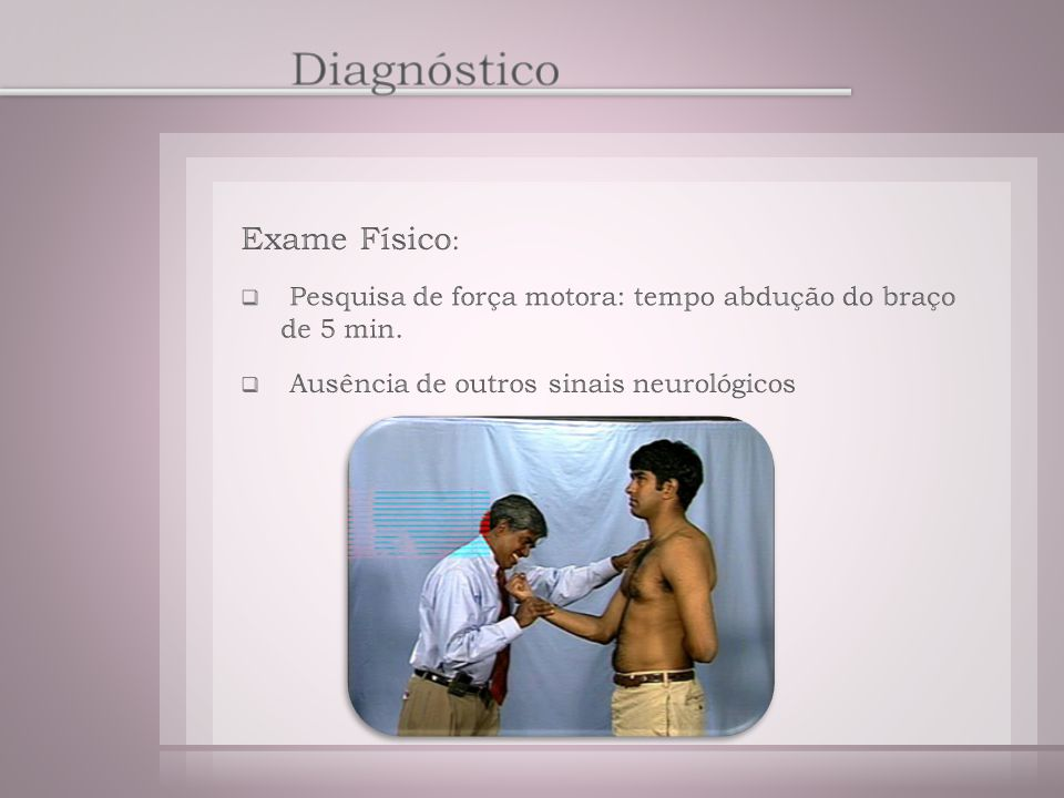 Diagnóstico Exame Físico: