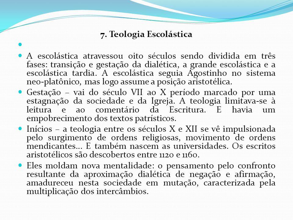 7. Teologia Escolástica