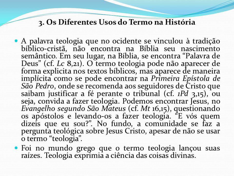 3. Os Diferentes Usos do Termo na História