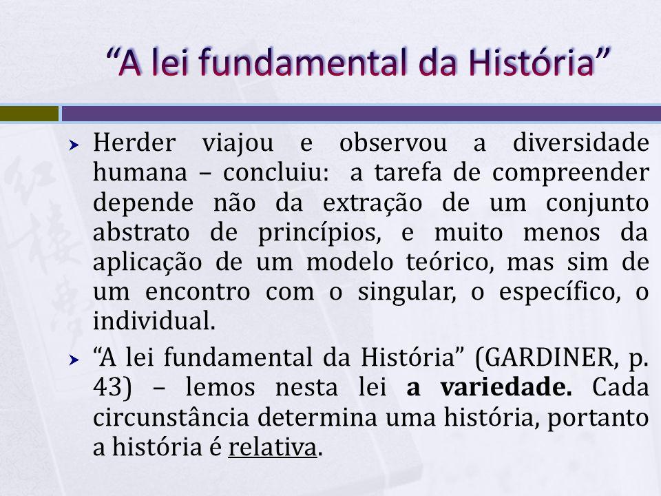 A lei fundamental da História