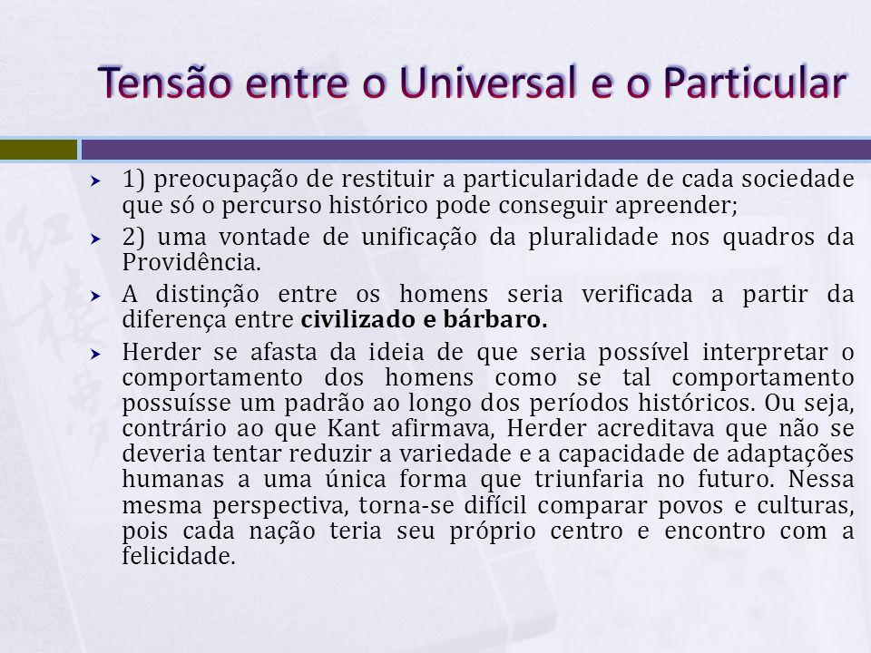 Tensão entre o Universal e o Particular