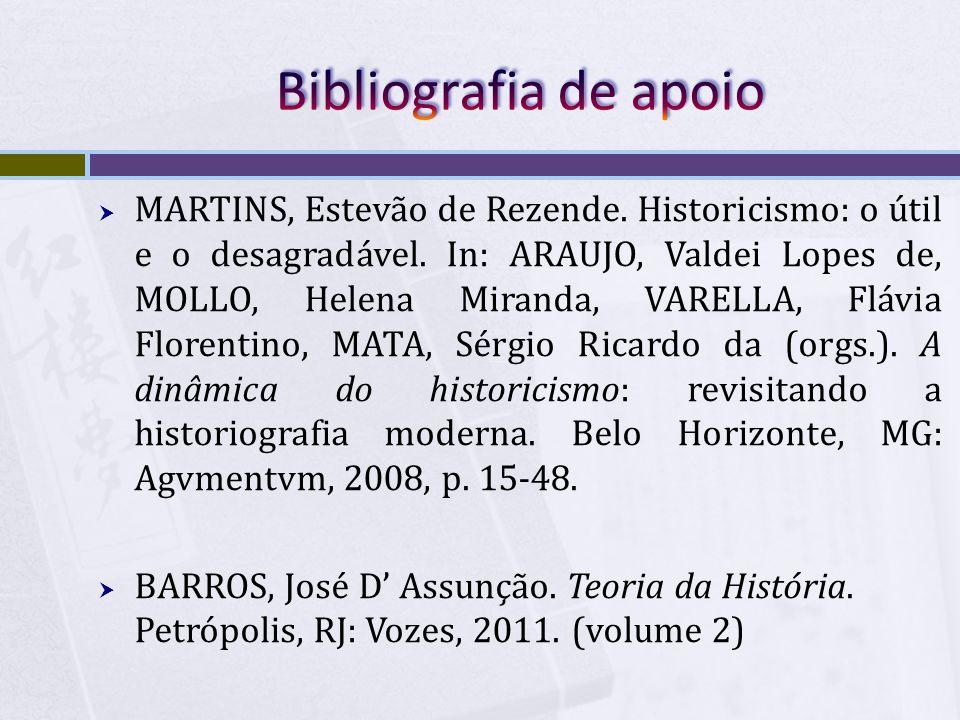 Bibliografia de apoio