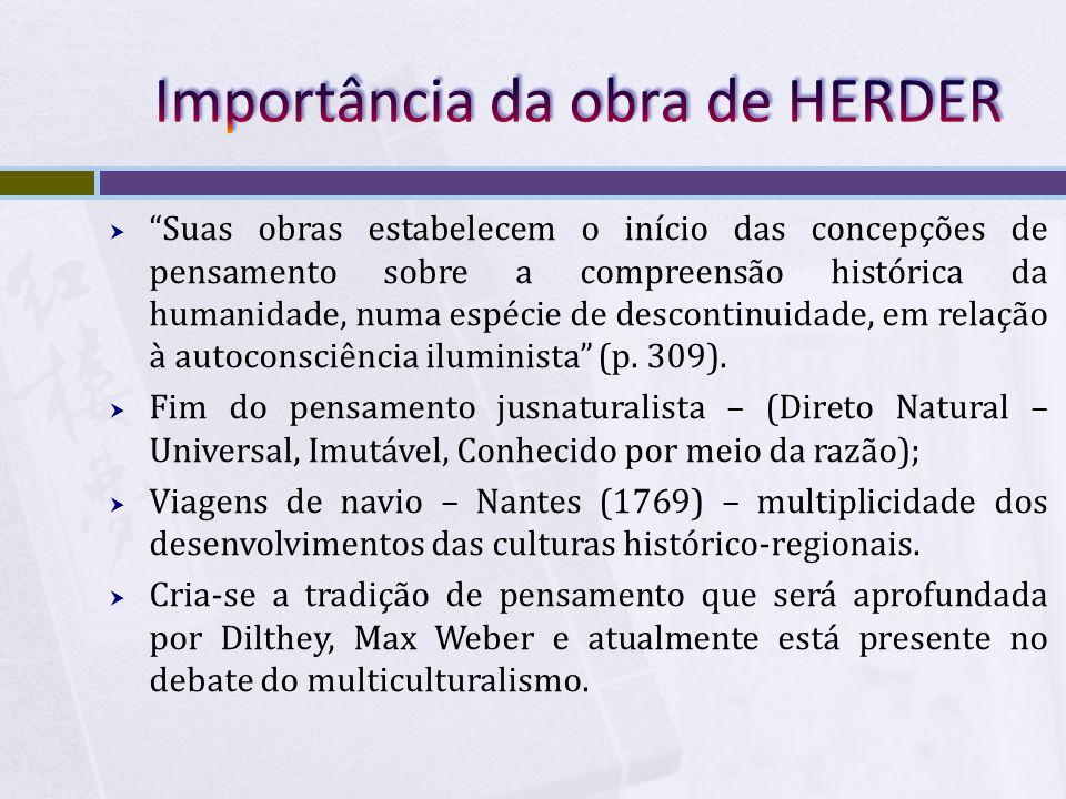 Importância da obra de HERDER