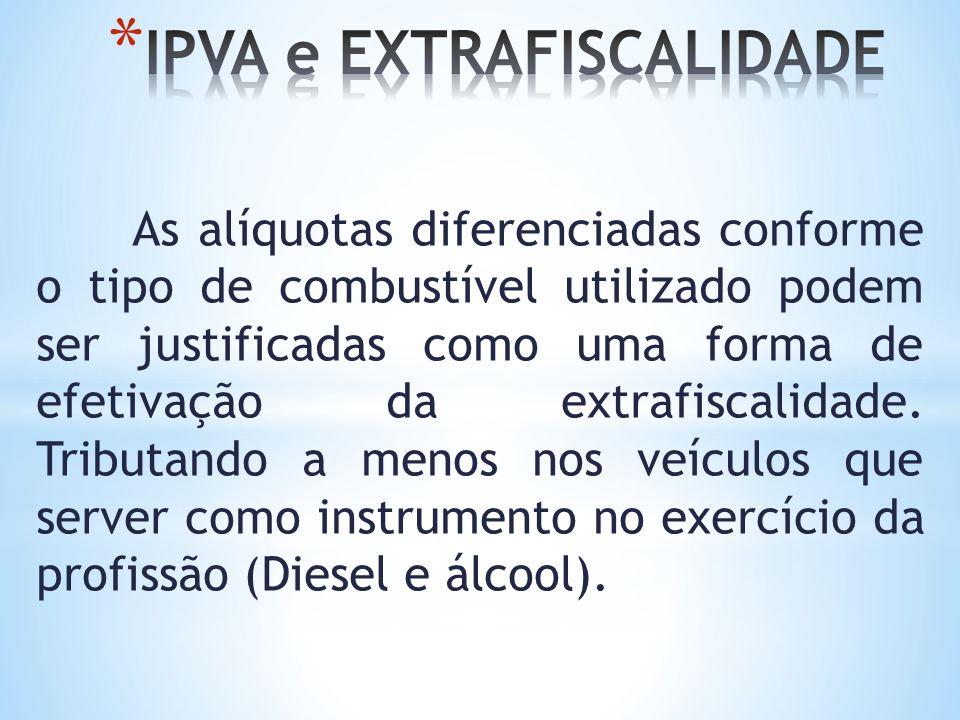 IPVA e EXTRAFISCALIDADE
