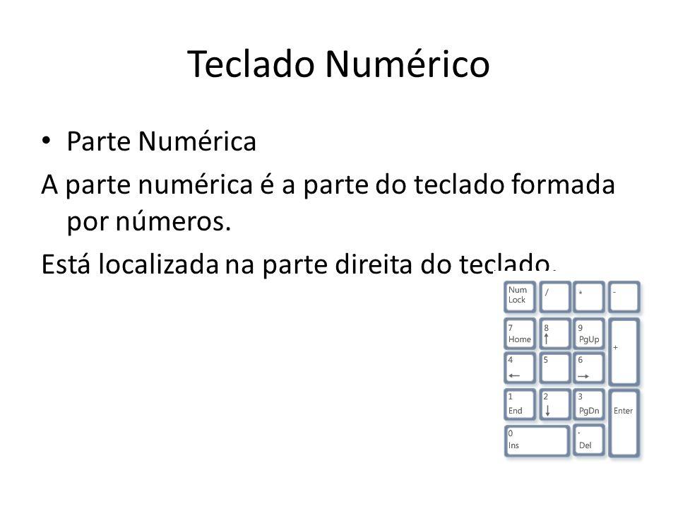 Teclado Numérico Parte Numérica