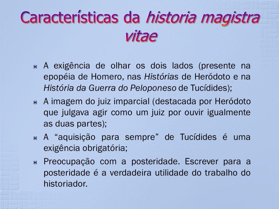 Características da historia magistra vitae