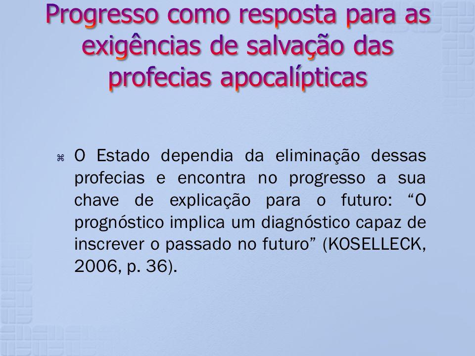 Progresso como resposta para as exigências de salvação das profecias apocalípticas