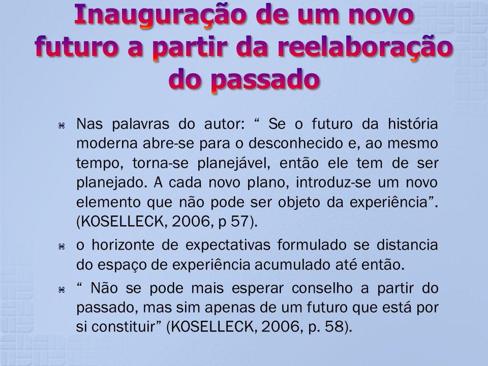 Inauguração de um novo futuro a partir da reelaboração do passado