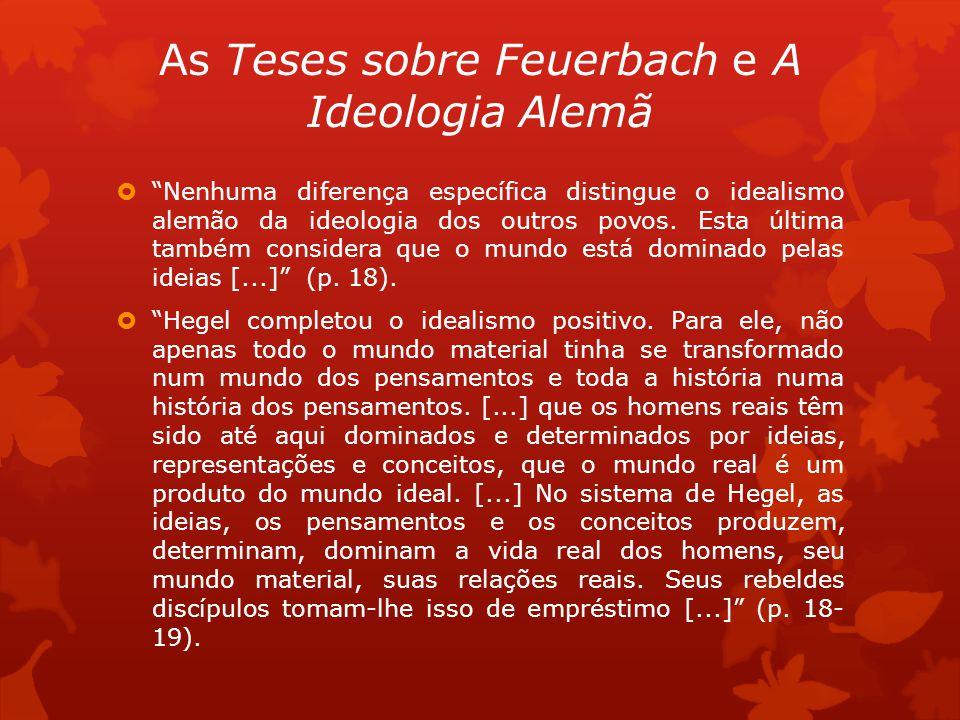 As Teses sobre Feuerbach e A Ideologia Alemã