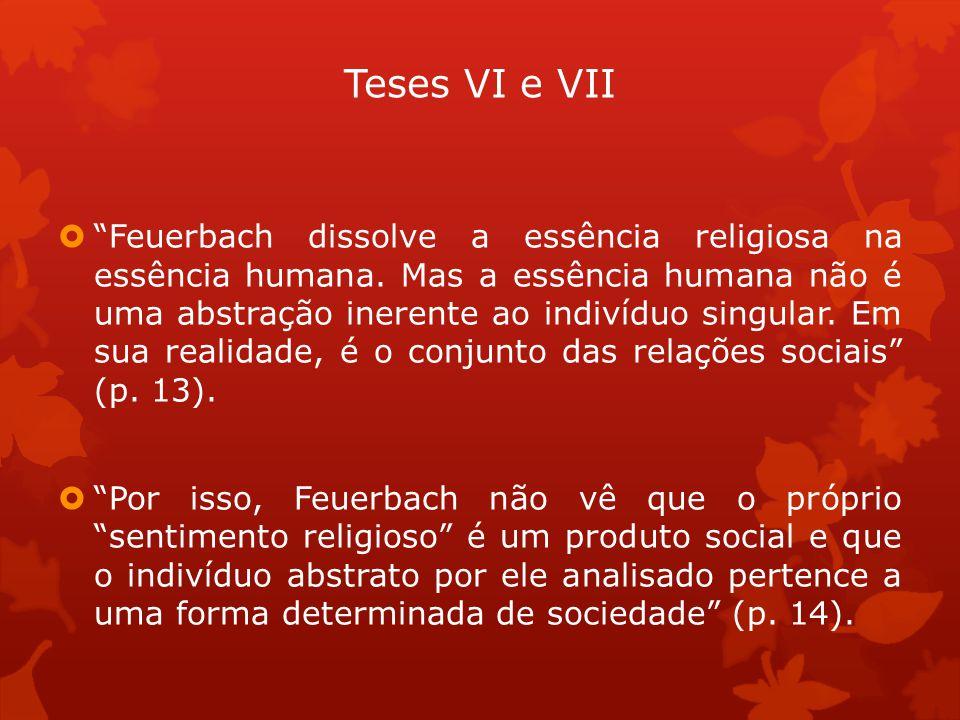 Teses VI e VII