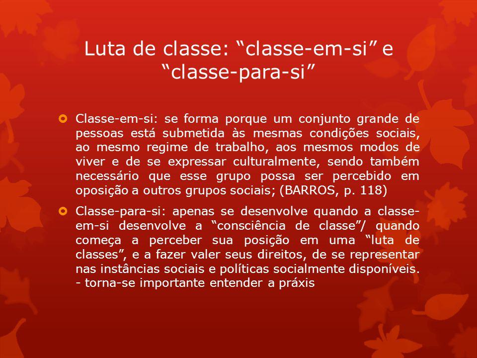 Luta de classe: classe-em-si e classe-para-si