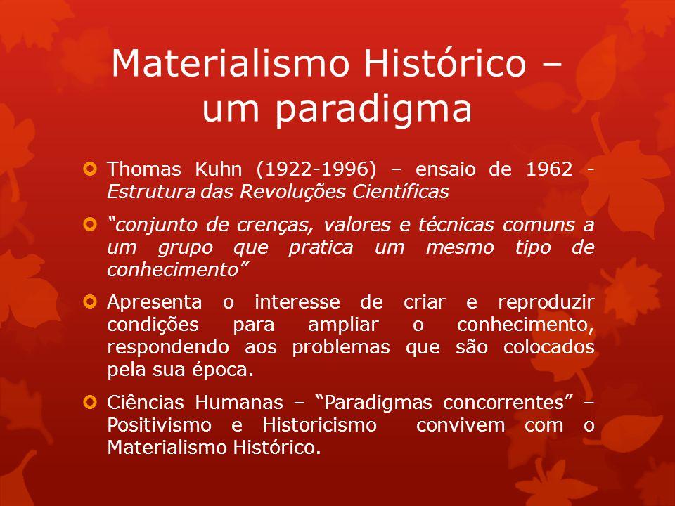 Materialismo Histórico – um paradigma