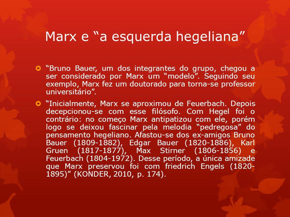 Marx e a esquerda hegeliana