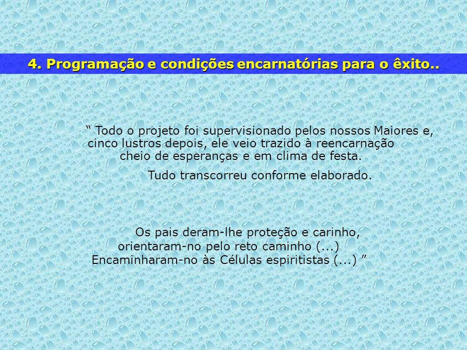 4. Programação e condições encarnatórias para o êxito..
