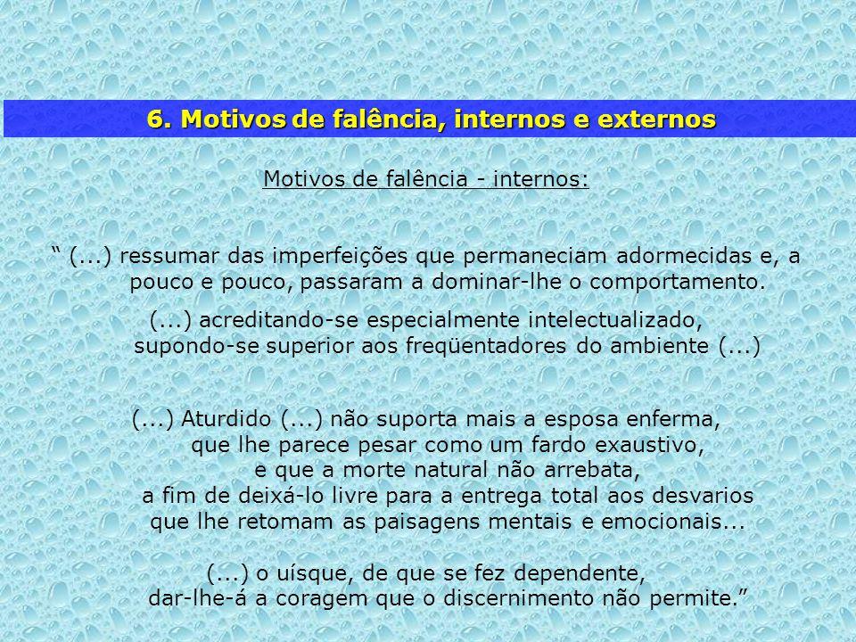 6. Motivos de falência, internos e externos