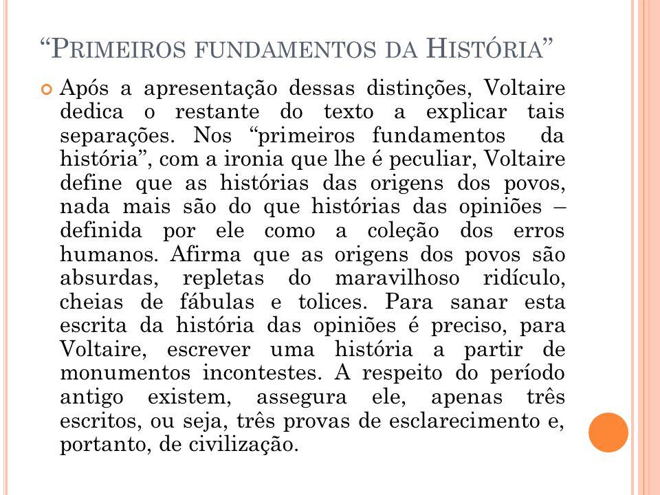 Primeiros fundamentos da História