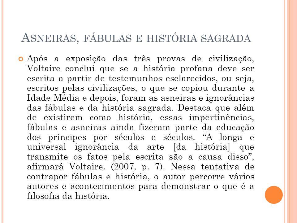 Asneiras, fábulas e história sagrada