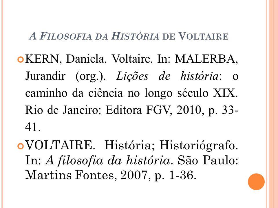 A Filosofia da História de Voltaire