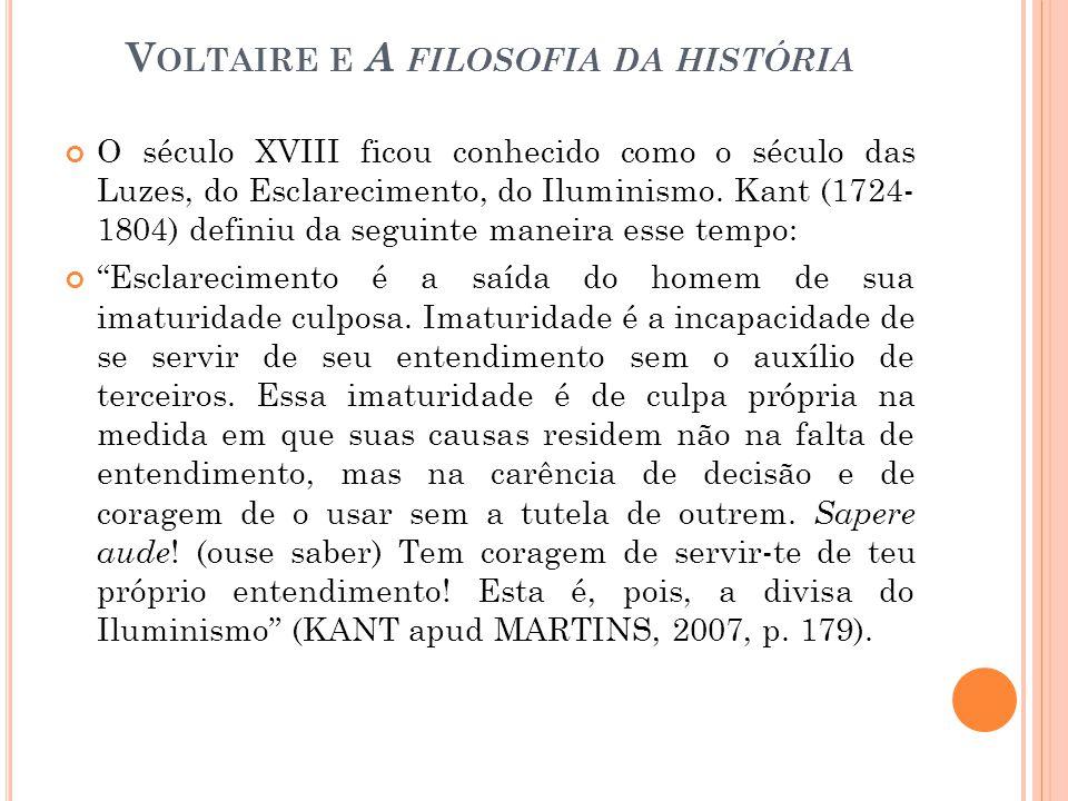Voltaire e A filosofia da história