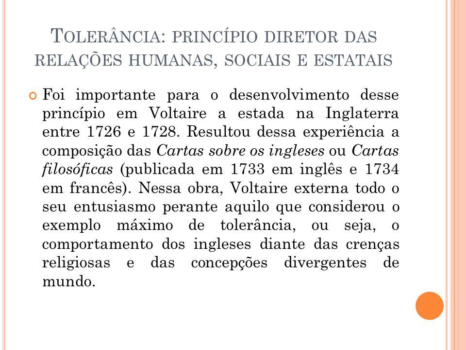 Tolerância: princípio diretor das relações humanas, sociais e estatais