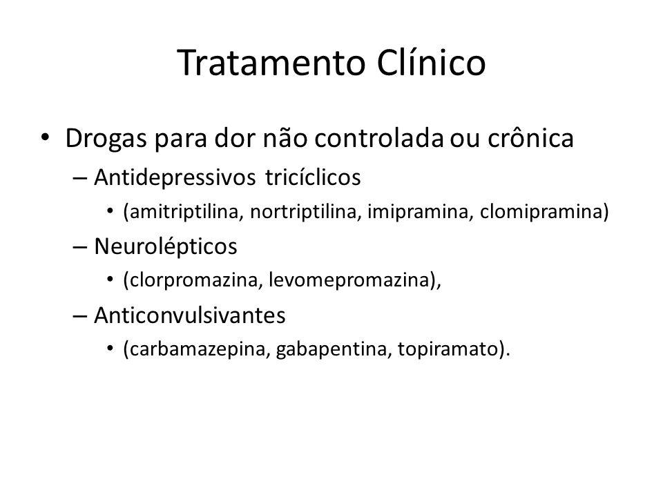 Tratamento Clínico Drogas para dor não controlada ou crônica