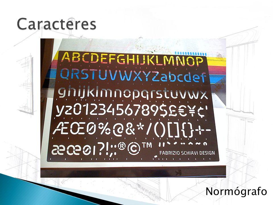 Caracteres Normógrafo