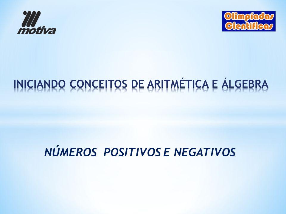 INICIANDO CONCEITOS DE ARITMÉTICA E ÁLGEBRA