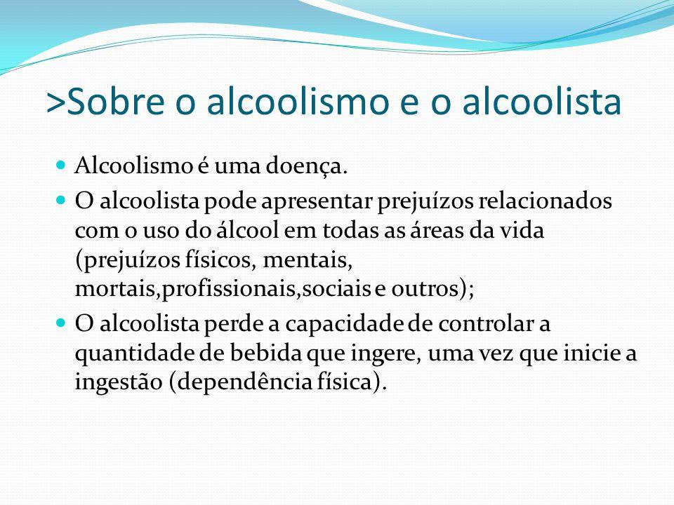 >Sobre o alcoolismo e o alcoolista